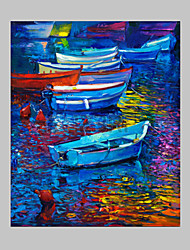 IARTS®Impressed Style Still Life Colorful Boat Framed Painting Ready To Hange on Livimg Room