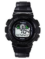 Masculino / Infantil Relógio de Moda Digital / Silicone Banda Casual Preta marca