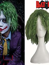 farceur vert moelleux bouclés partie de cheveux de halloween costume perruque cosplay fibre haute température