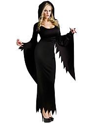 Costumes de Cosplay Costume de Soirée Ange et Diable Fête / Célébration Déguisement Halloween Noir Couleur Pleine Robe Plus d'accessoires