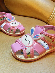 Girl's Sandals Summer Sandals / Round Toe Leather Casual Flat Heel Bowknot Blue / Pink Others