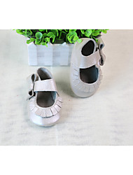 Girl's Sandals Summer Leather Casual Flat Heel Others Silver Others