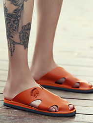 Men's Slippers & Flip-Flops Summer Slippers Rubber Casual Flat Heel Others Black / White / Orange Others