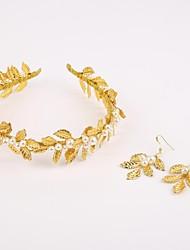 Damen Legierung / Künstliche Perle Kopfschmuck-Hochzeit / Besondere Anlässe Stirnbänder 3 Stück