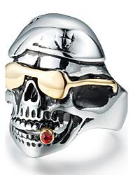 Anillos de Diseño Zirconio Titanio Acero Forma de Cráneo Moda Cosecha Personalizado Plata Joyas Diario Casual 1 pieza