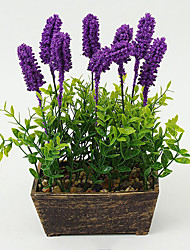 1PCS Graceful Miniascape Fake Lavender Tree Home Decor Artificial Flower