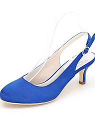 Feminino-Saltos-Saltos / Arrendondado-Salto Agulha-Preto / Azul / Rosa / Roxo / Vermelho / Marfim / Branco / Prateado / Dourado / Verde