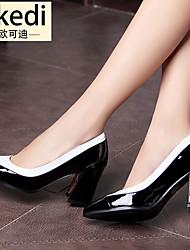 Damen-High Heels-Lässig-Gummi-BlockabsatzSchwarz