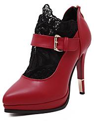 Feminino-Botas-Sapatos clube Light Up Shoes-Salto Agulha-Preto Vermelho-Couro Ecológico-Ar-Livre Social Casual