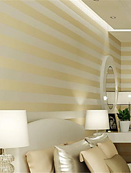 Stripe Wallpaper For Home Contemporary Wall Covering  Non-woven fabric Material Adhesive required Wallpaper