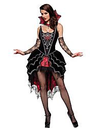 Costumes Vampire Halloween / Fête d'Octobre Noir Mosaïque Térylène Robe / Plus d'accessoires