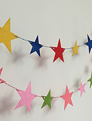A Undertakes the Stars Ribbon Color Garland Halloween Decorations Striped Birthday Stars Garland