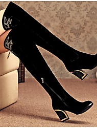 Women's Boots Spring / Fall / Winter Motorcycle Boots PU Outdoor Chunky Heel Zipper Black Others