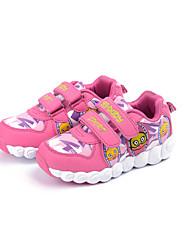 Girl's Sneakers Spring / Fall Comfort Fabric Casual Flat Heel Magic Tape Blue / Red Sneaker