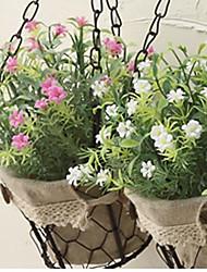 1 1 Ramo Plástico Plantas Flor de Mesa Flores artificiais 10.2inch/26cm