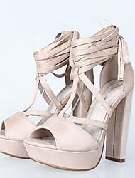 Women's Sandals Summer Heels / Peep Toe / Platform / Sandals Fabric Party & Evening / Dress / Casual Chunky Heel