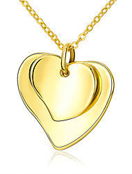 Necklace Pendant Necklaces Jewelry Wedding / Party / Daily Fashionable Gold Plated Yellow Gold 1pc Gift