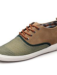 Men's Oxfords Spring / Fall Comfort Fabric Casual Flat Heel  Blue / Brown / Khaki Sneaker