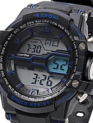 EXPONI 3205 Men's Fashion LED Luminous  Water Resistant/Water Proof Chronograph Calendar Outdoor Sports Digital Military Wrist Watch