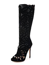 Feminino-Botas-Conforto / Inovador / Botas Cano Curto / Botas Montaria / Botas da Moda / Sapatos com Bolsa Combinando / Rasos / Sandálias-