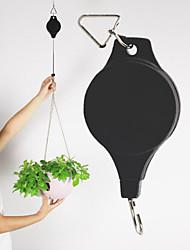 The New Arrival Is Useful For 2 PC / Hook Retractable Basket Hanging Drop Pulley Racks For Garden Plants