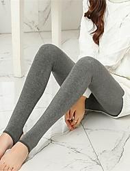 Femme Polyester Moyen Doublure Polaire Legging,Taille Unique convient aux S et M, veuillez vous référer à la charte des tailles