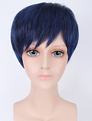 Fashion Short Wig Bule Color Synthetic Cosplay African American Wigs