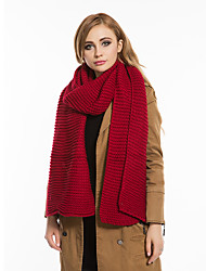Men And Women Casual Couple Thick Lines Autumn And Winter Thick Knitted Wool Scarves Solid Color Long Warm Scarf