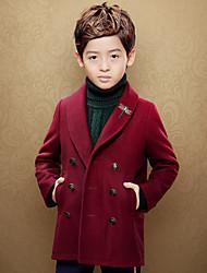 Jungen Anzug & Blazer-Lässig/Alltäglich einfarbig Baumwolle Frühling Rot / Beige