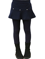 Girl's Casual/Daily Solid Dress / Skirt / Leggings,Others Winter Blue / Gray