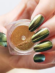 Manicure Mirror Pink Gold 1G Boxed Laser Chameleon Powder Mirror Effect