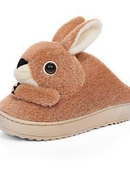 Women's Slippers & Flip-Flops Winter Comfort / Slippers / Round Toe / Flats Velvet Outdoor /  Yellow /