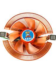 bureau de cuivre a8 amd 775 1155 ventilateur de cpu 1156 multi-plateforme