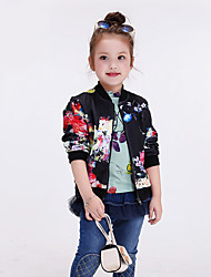 Girl's Casual/Daily Floral Hoodie & SweatshirtPolyester Winter / Fall Black