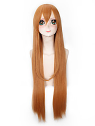 Fashion Long Straight Wigs Brown Color Synthetic Cosplay African American Wigs