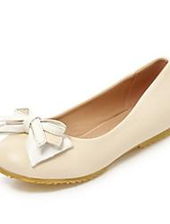 Women's Flats the four seasons Ballerina Leatherette Office & Career / Dress / Casual Flat Heel BowknotBlue / Pink