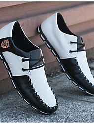 Men's Sneakers Summer Closed Toe Canvas Outdoor Flat Heel Lace-up Black / Green / White / Black and White Others