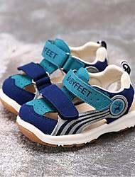 Jungen-Sandalen-Lässig-PU-Flacher Absatz-Sandalen-Blau / Rot