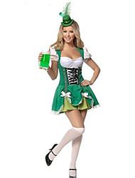 Costumes de Cosplay Plus de costumes Fête / Célébration Déguisement Halloween Vert clair Mosaïque Robe / Plus d'accessoiresHalloween /