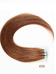 Hot Sale Tape In Remy Human Hair Weaves Silky Straight Human Hair Extensions 20pcs/bag  100% Remy Virgin Human Hair