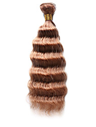 méchés Cheveux Indiens Ondulation profonde 12 mois 1 Pièce tissages de cheveux