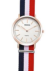 KEZZI Women's Fashion Watch Wrist watch / Quartz Fabric Band Cool Casual Multi-Colored