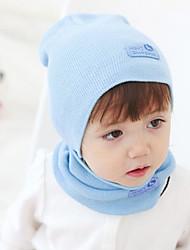 Девочки / Мальчики Шарф, шапка и перчатки в комплекте,Все сезоны,Вязаная одежда,Синий / Зеленый / Розовый / Красный / Желтый