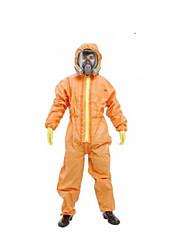 chemische flüssige Farbe isoliert radioaktive Strahlung Schutzkleidung Overall Größe XL