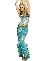 Cosplay Costumes / Party Costume Mermaid Tail Festival/Holiday Halloween Costumes Blue Solid Dress Halloween Female Terylene