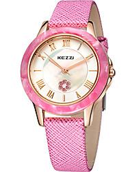 Damen Modeuhr / Armbanduhr Quartz / Leder Band Cool / Bequem Schwarz / Weiß / Rosa / Lila / Rose Marke