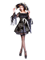 Cosplay Costumes / Masquerade / Party Costume Pirate Festival/Holiday Halloween Costumes Black Lace Dress / More Accessories / Hat