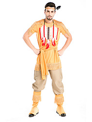 Costumes de Cosplay / Costume de Soirée Cosplay Déguisement Halloween Vert / Jaune Couleur Pleine Haut / Pantalon / Plus d'accessoires