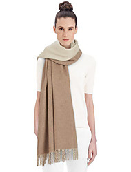 Women Lamb Fur ScarfCasual RectangleGray / KhakiSolid