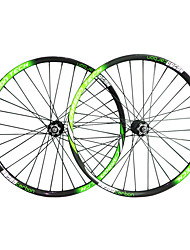 29er-28mm Carbon Fiber Mtb Bike Wheelsets  Green White/Black Color with 711-712 Hub